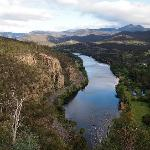  view downstream from Pulpit lookout across the Derwent river