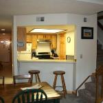  Living and kitchen area in the Vallee Blanche Condo at Mountainside Condos, Frisco, CO