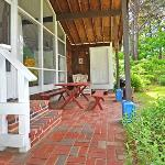 Private patio with cooking grill, the pine suite, Cottage Guest, Eastham, MA