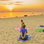 Sunrise yoga on An Bang beach