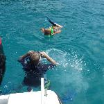 Snorkeling off the boat