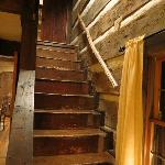Stairs in Log House