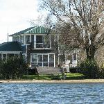 Shula's Lake House from the lake