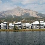 Lake Condominiums, with Lone Mountain and Mountain Village in the background