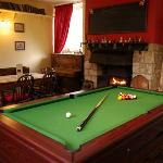 Lounge with pool table
