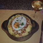 First Rosti, with wine