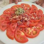 Great tomatosalad as starter