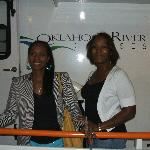 2 of the Anderson girls posing on the OK River Cruise