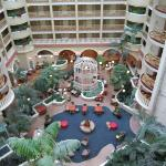 Hotel lobby from 7th floor
