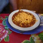 A bowl of Bubba's chili -- cup size serving also available