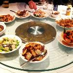 a banquet of delicious generous portions of amazing food