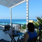 This is the Kiwa studio terrace - great view of Snake Bay
