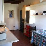 The small kitchen at Casa Nuova