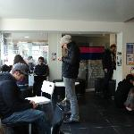  the &quot;zombie&quot; room err... common room haha strangely it works! very social place