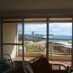 amazing view from the kitchen back to burleigh and surfers