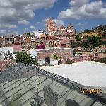 View of La Parroquia from rooftop terrace