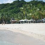  the stretch of white sand beach