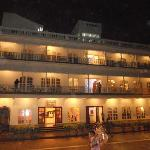  The hotel facade