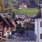 Triesenberg. Road up to hotel