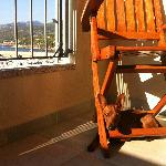  Our min pin our the balcony
