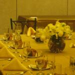 our beautiful table in the ballroom