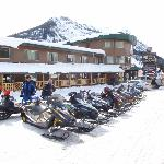  No better place to snowmobile than Cooke City and the Soda Butte is the best place to hang your