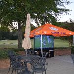  This was a tailgate the hotel set up outside- there was an away game. LOVED it. So nice.