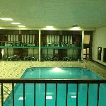 Indoor swimming pool view from room