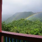 Splendid view of mountains and frequently rainbows