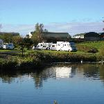 View across the lake, Ballyness caravan Park