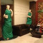 Roman Statues 'covered up' for modesty in the lobby