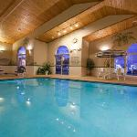Feel the soothing effects of our heated indoor pool & whirlpool