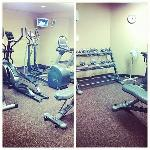 small gym. decent but needs more weights