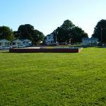Volleyball Court and Cottages