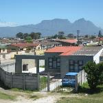 view from the balcony of Guguglethu and Table mountain