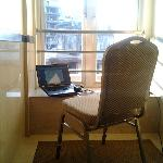 My working area in Hotel corridor