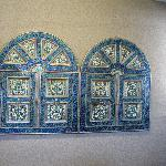 Decorative art tiles brought from India, lobby and breakfast area
