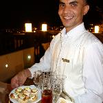 Said, our fantastic waiter at Riad Maison Bleue