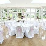  Orangery set up for our Wedding Breakfast