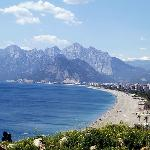  panorama di antalya della spiaggia di konyaalti