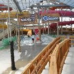 Partial view of the two indoor waterslides