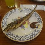 Grilled fish from buffet station