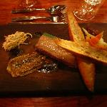 Terrine of lamb rillettes with mint jelly and celeriac salad