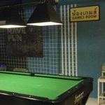 billiards corner in the restaurant