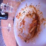 The remains of a fabulous meal at Cardoni's in Glenelg