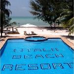 swimming pool with a stunning view of the indian ocean