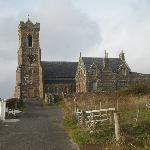 The beautiful church in Castlebay by hillside bnb