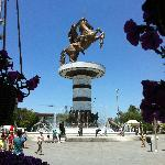  Alexander the Great statue and fountain near the hotel