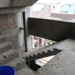 This open stair case is very easy to bypass security and acc