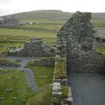 View of Sumburgh Hotel from the ruins